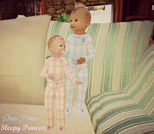 kids pjs Prince Princess